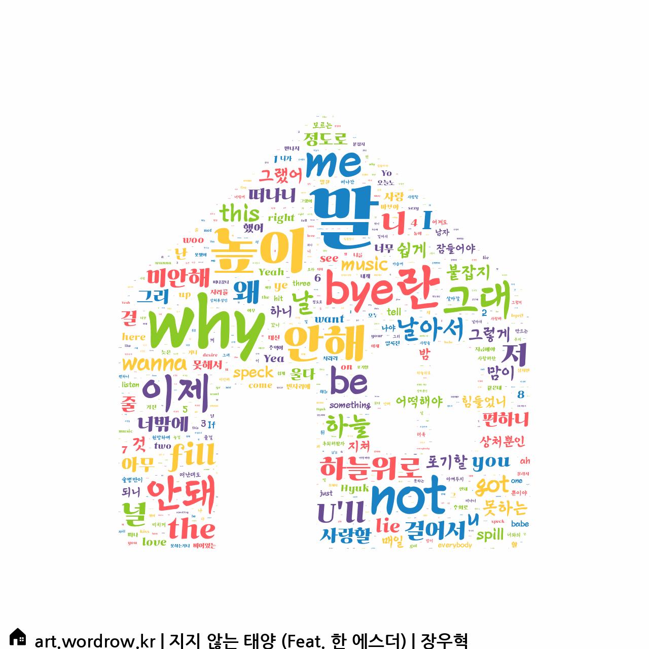 워드 클라우드: 지지 않는 태양 (Feat. 한 에스더) [장우혁]-16